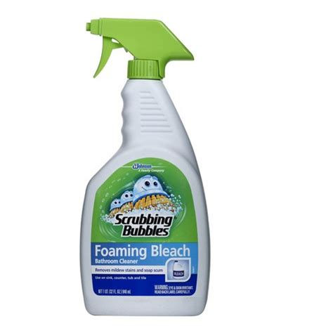 scrubbing bubbles bathtub cleaner scrubbing bubbles foaming bleach bathroom cleaner 32 fl oz walmart com