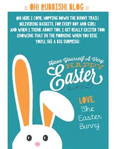 a letter from the easter bunny printable easter bunny
