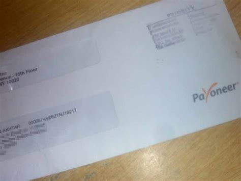 Cards Addressed And Mailed - get free pre paid master debit card by payoneer paksharez