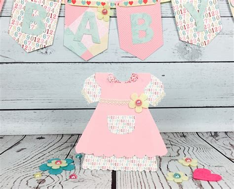 baby dress printable card template baby dress card tutorials with the craft