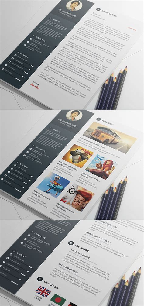 creative resume templates free psd free modern resume templates psd mockups freebies