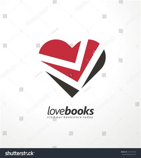 logo design love book love books creative symbol concept unique logo design