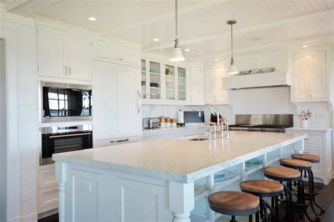 L Shaped Kitchen   Cottage   kitchen   Hamptons Habitat