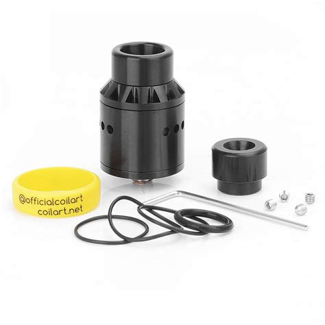 authentic coilart azeroth rda black 24mm rebuildable atomizer