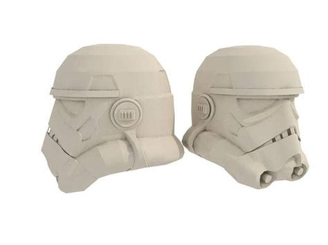 Papercraft Helmet Pdf - stormtrooper helmet with foam pepakura projects to