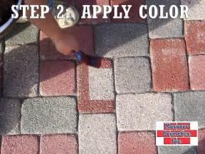 staining patio pavers paver color change masonry cosmetics brick staining