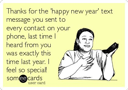 thanks for the happy new year text message you sent to