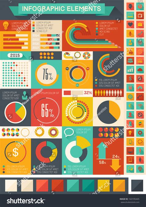 shutterstock design elements and layout vector pack vector pie chart infographic elements set stock vector