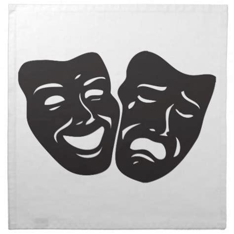 comedy tragedy drama theatre masks napkin zazzle