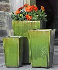 green ceramic planter design pretty flowers wall