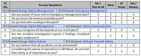 safety survey template safety culture survey safety perception survey cholarisk