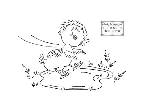 coloring book embroidery duckling series embroidery transfer patterns az