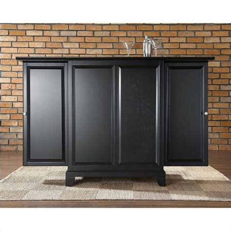 crosley furniture newport expandable home bar cabinet in