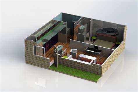 solidworks home design house design solidworks 3d cad model grabcad