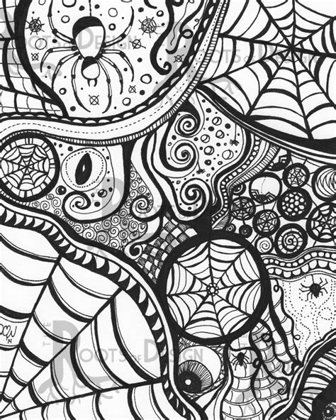 doodle name ej instant coloring page spiderart print zentangle