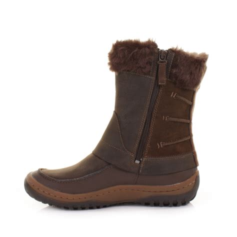merrell s boots womens merrell decora minuet mocha waterproof winter snow