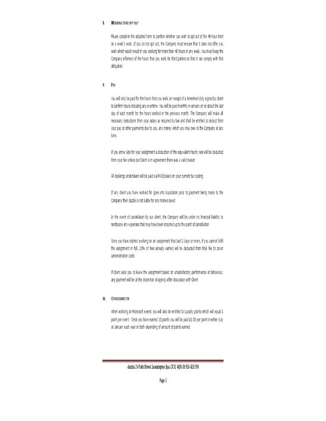 zero hour contract template uk free
