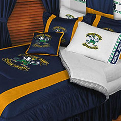 notre dame bedding ncaa notre dame fighting irish twin comforter bed set