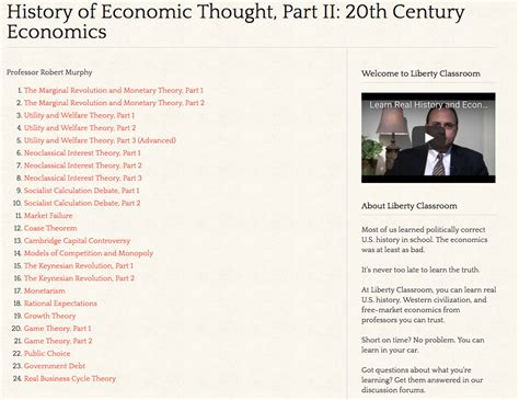 History Of Economic Thought Essay Topics by Murphy S History Of Economic Thought Part Ii Now Available On Liberty Classroom