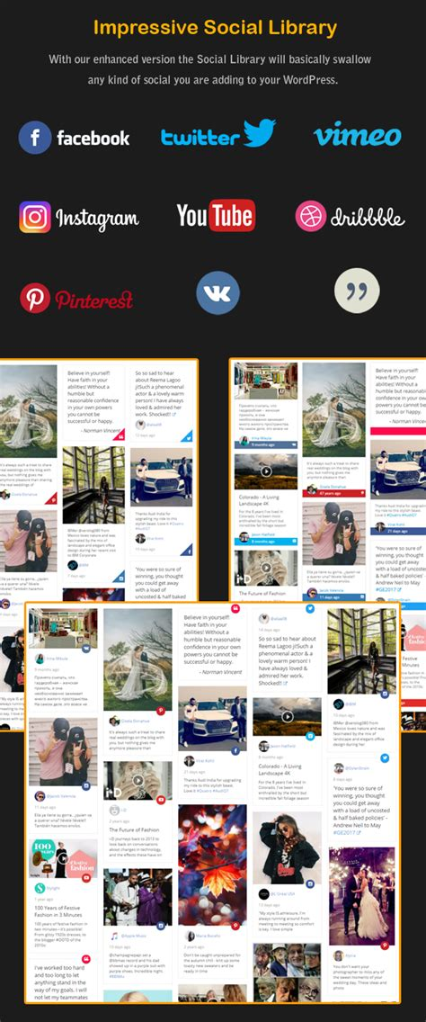 grid layout visual composer visual composer social stream post type grid and