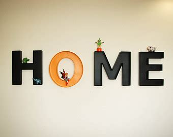 items similar to large canvas letters home home decor on
