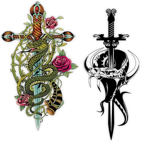 snake and rose tattoo meaning 16 sword designs and their meanings