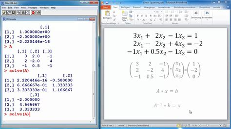 tutorial on latex software r tutorial 7 solving systems of linear equations