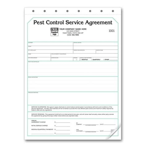 pest invoice template pest invoice forms work order