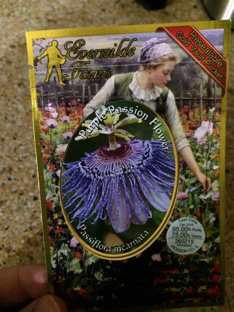 passion flower seeds  arrived  advice
