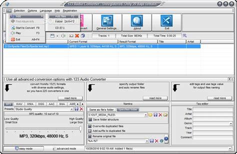 audio format converter linux 123 audio converter download