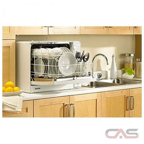 danby ddw496w 23 quot countertop dishwasher with 4 cycles