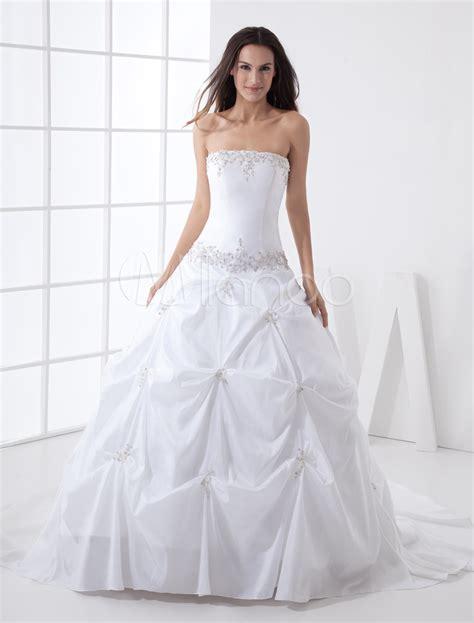 Taffeta Wedding Dress by Gown Strapless Beading Taffeta Wedding Dress