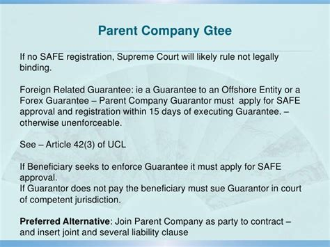 Guarantee Letter Parent Company Prc Contract Principles And Risk Management In Contract Drafting
