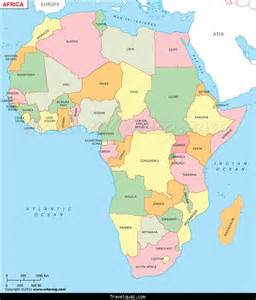 Countries In Africa Map by Map Of Africa With Countries Travel Holiday Map
