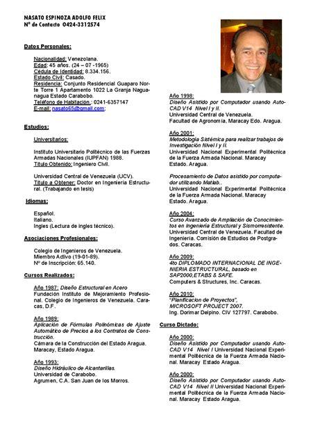 Plantilla De Sintesis Curricular Ingenieria Practica Ingeniero Adolfo Nasato S 237 Ntesis Curricular Ingeniero Adolfo Nasato
