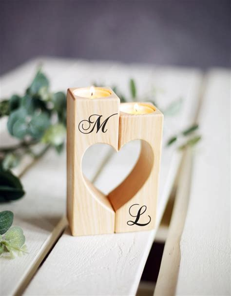 Wedding Gift Candles by Wedding Candle Holder Wood Rustic Candle Holder Wedding