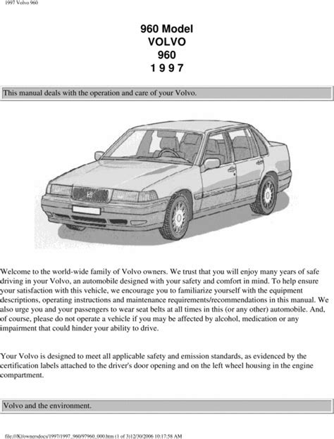 old car manuals online 1997 volvo 960 parking system service manual 1997 volvo 960 owners manual fuses 1995 volvo 960 service repair manual 95