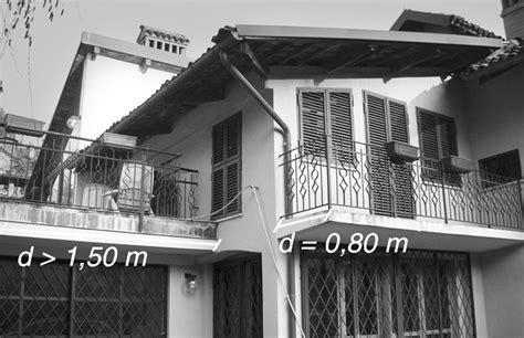 verande per terrazze le distanze tra edifici e parti accessorie balconi