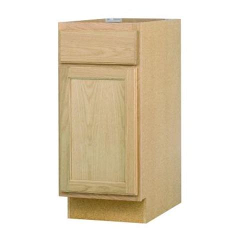 kitchen cabinets at home depot unfinished oak white in 15x34 5x24 in base cabinet in unfinished oak b15ohd the
