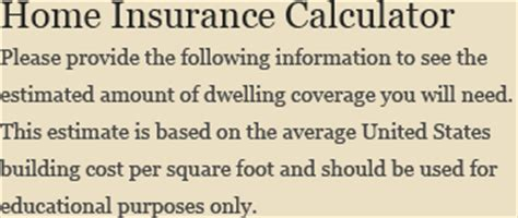 home insurance calculator