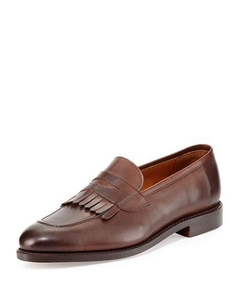 ralph mens loafers ralph collection leather kiltie loafer in