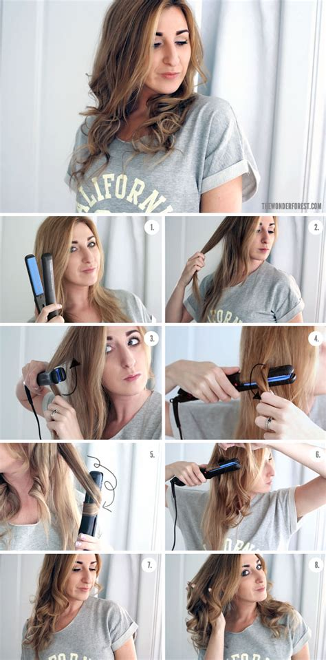 curl your hair with straighteners 7 easy ways to curl your hair