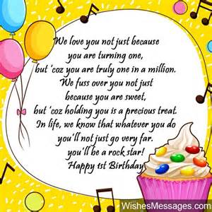 1st birthday wishes birthday quotes and messages wishesmessages