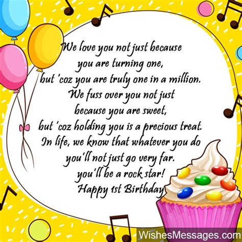 Happy Birthday Wishes For A 1 Year 1st Birthday Wishes First Birthday Quotes And Messages