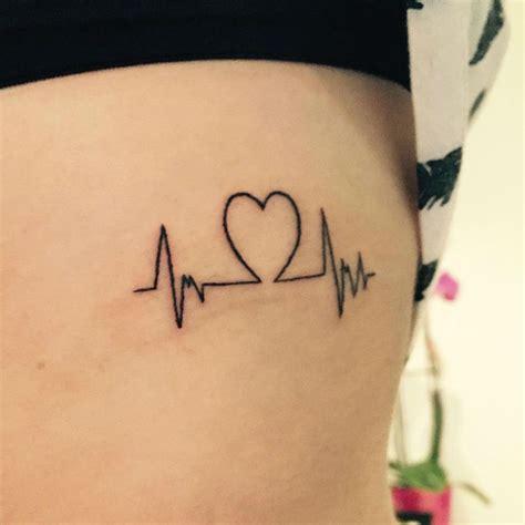 heartbeat line tattoo 22 photos of inspiring heartbeat tattoos