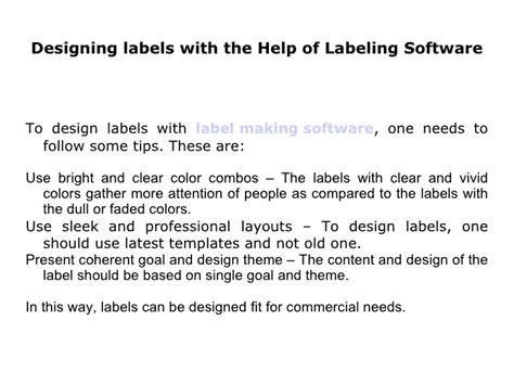 What Do You Mean By Labeling Software Designing Coherent Template