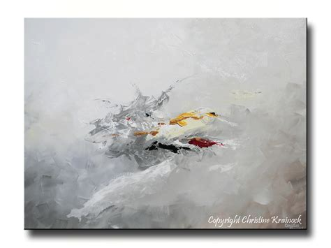 painting greys giclee print grey gold abstract painting modern coastal