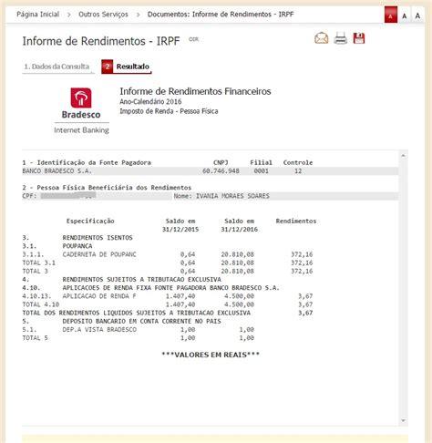 informe de rendimentos financiamento caixa economica informe de rendimentos bradesco 2018 como consultar