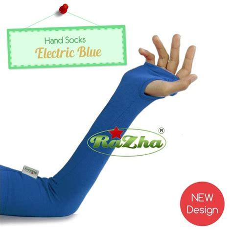 Manset Tangan Lengan Panjang Kerut socks electric blue pusat modern