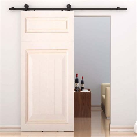 Barn Door Sliding Hardware Interiors Homcom Interior Sliding Barn Door Kit Hardware Set Reviews Wayfair